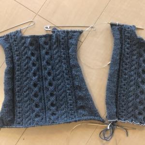 赤ちゃんのカーディガン編み始め
