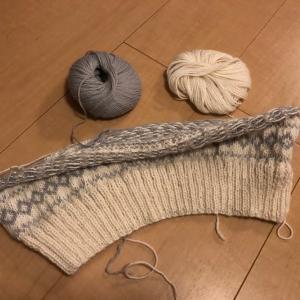 久しぶりに編み物開始