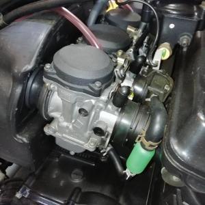 GPZ900Rキャブフロートバルブ交換