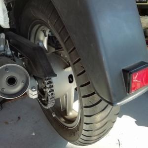 GPZ900Rリアタイヤ交換