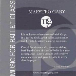 Maestro Gary のバレエレッスンCD 試聴♪