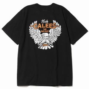 CALEE Binder neck eagle pocket t-shirt