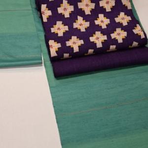 新田織物のエメラルドグリーンの紬をコーディネート・そして明日から神無月の会が始まります