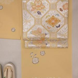 辻が花と菊柄の小紋と袋帯でお母さんの入学式の装いに・そして白山ひめ神社の左義長