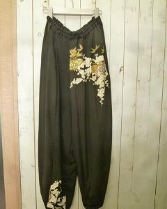 着物リメイクパンツ、スカート