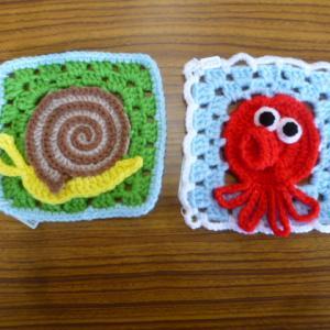 編み編みコースター