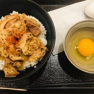 金曜日の夕食は150円の卵🥚かけ牛丼    2019.12.13