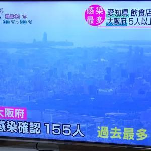 大阪府愛知県 過去最多  2020.07.29