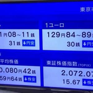 日経平均株価は11時04分現在 159.64円安でした。 2021.09.28