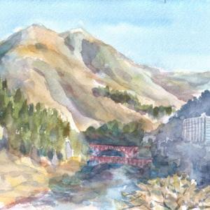 宇奈月温泉からの黒部川