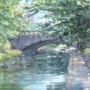 松川に架かる桜橋