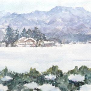 雪晴れの静寂