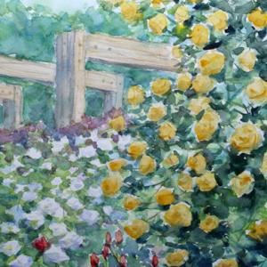 薫るバラ園