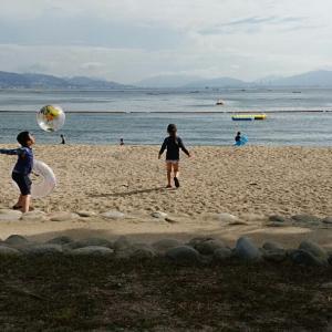 子ども達の夏休み~宮島で海水浴⭐