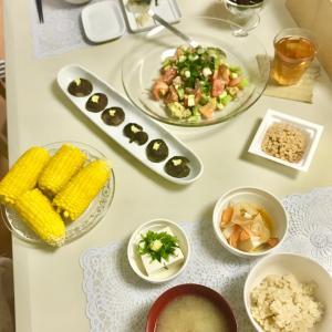 キヌア入り炊きたて玄米&旬が盛り盛り❤️