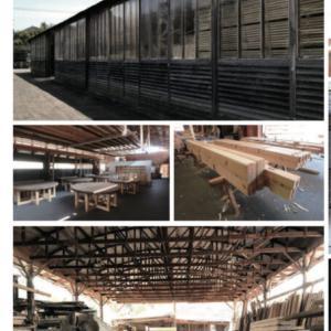 たくさんの木材の中から選ぶコーディネーション。材木店