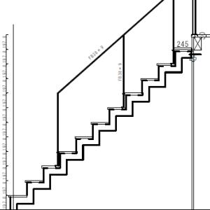 アイアン階段。鉄工所で打ち合わせ(鉄製階段)
