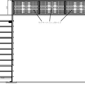 ロフト落ち止めにデザインのアクセント。アイアン階段(鉄製)