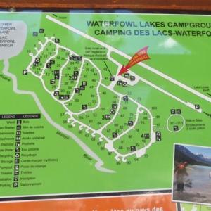 『友人父&娘とのキャンプ&ハイキング①』『天気もよく最高の日です』『ロッキー山脈ど真ん中の友人たちとのキャンプは楽しい〜』Banff,Canada