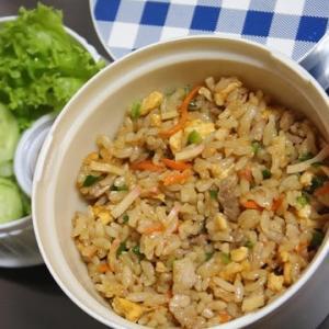 9月6日  焼き肉の たれ炒飯&サラダランチ