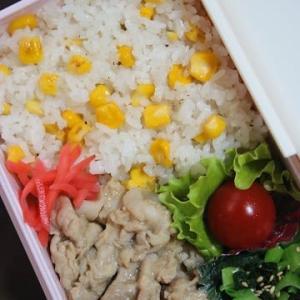 6月12日  ペッパーコーンライス&生姜焼き弁当