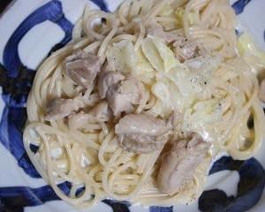 9月12日  きゃべつと鶏肉の クリームスープパスタ