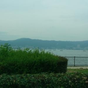 朝の琵琶湖人工島!!