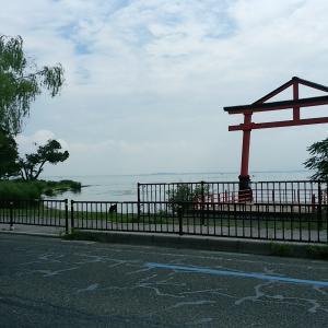 朝の琵琶湖!!
