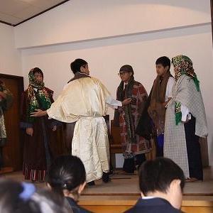 北浦三育中学校1年生による特別礼拝