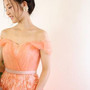 オレンジカラードレス入荷♡