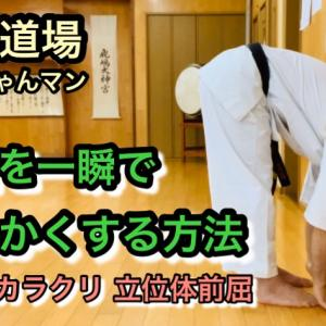体が硬い人でも前屈を一瞬で柔らかくする方法 立位体前屈 筋を伸ばすストレッチ 柔軟
