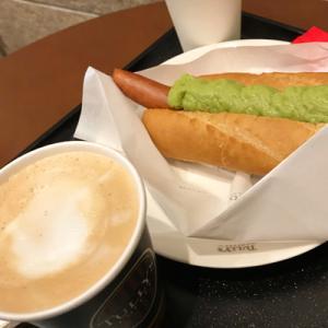 タリーズコーヒー/カフェラテとボールパークドッグアボカド
