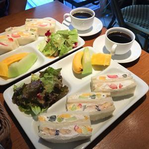 果実園 リーベル 目黒店/朝のお散歩のお供にモーニングフルーツサンド