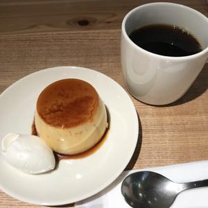 カフェ&ミール ムジ 渋谷西武/本和香糖の焼きプリンとコーヒーをセットで