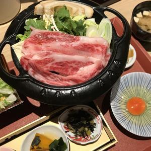 肉割烹 吟次郎 品川駅前店/限定20食の神戸牛すき焼き定食