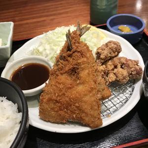 喰処飲処 蛍火 品川インターシティ店/日替り定食はアジフライと唐揚げ!