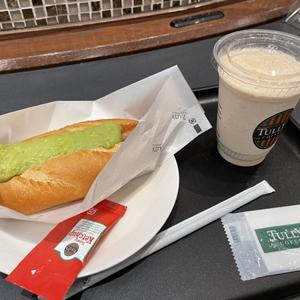 タリーズコーヒー/エスプレッソシェイクとホットドッグ