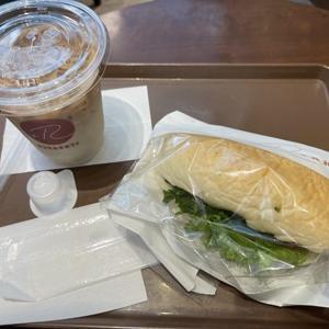 サンマルクカフェ/カフェラテと+Rサンドオイルサーディン&アボカド