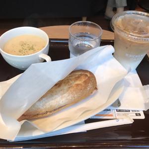 エクセルシオール カフェ/チーズドッグとスープセット