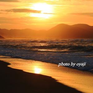 夕日ヶ浦海岸の夕景