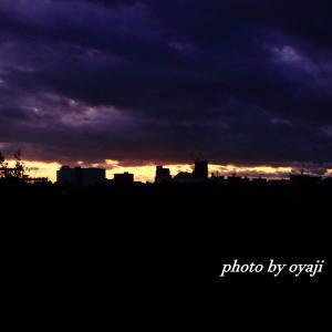 台風前の朝