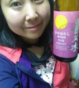 本日の晩酌写メ☆長野県の日本酒喜久水飲んでいます☆