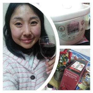 本日の晩酌写メ☆焼酎からの赤ワイン飲んでいます☆