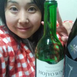 本日の晩酌写メ☆稲田姫ごうりきと北条ワイン飲んでいます☆