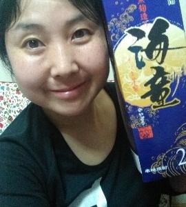 本日の晩酌写メ☆芋焼酎の海童飲んでいます☆