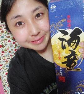 本日の晩酌写メ☆本格芋焼酎の海童飲んでいます♪