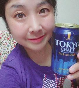 本日の晩酌写メ☆東京クラフトペールエール飲んでいます♪