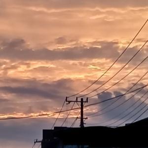 おはよう☆昨日の夕焼け綺麗だったね!
