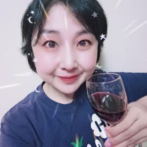 本日の晩酌写メ☆赤ワイン飲んでいます☆