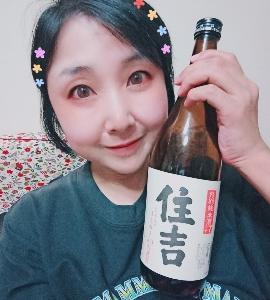 本日の晩酌写メ☆特別純米酒住吉飲んでいます☆